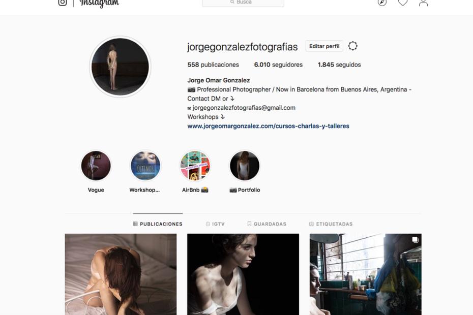 Instagram jorgegonzalezfotografias